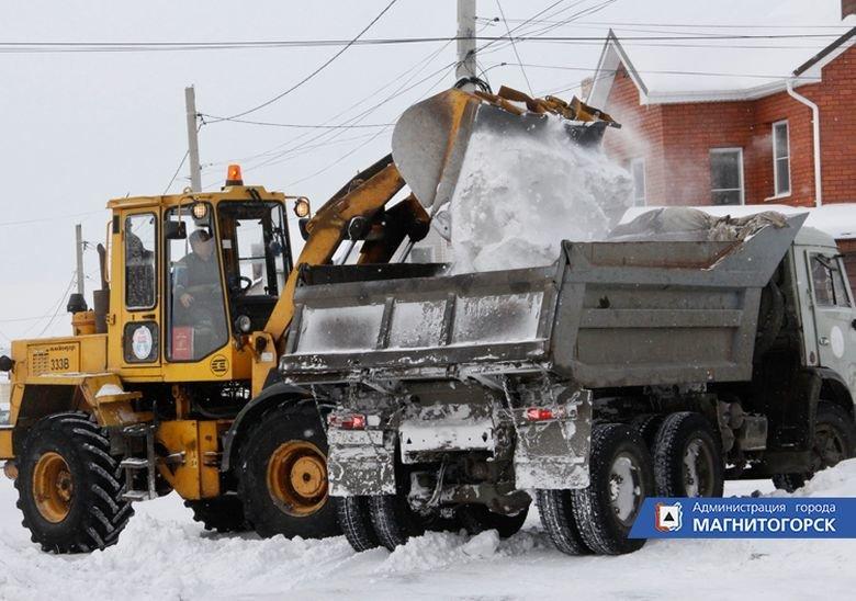 Из поселков Магнитогорска вывозят снег, фото-1