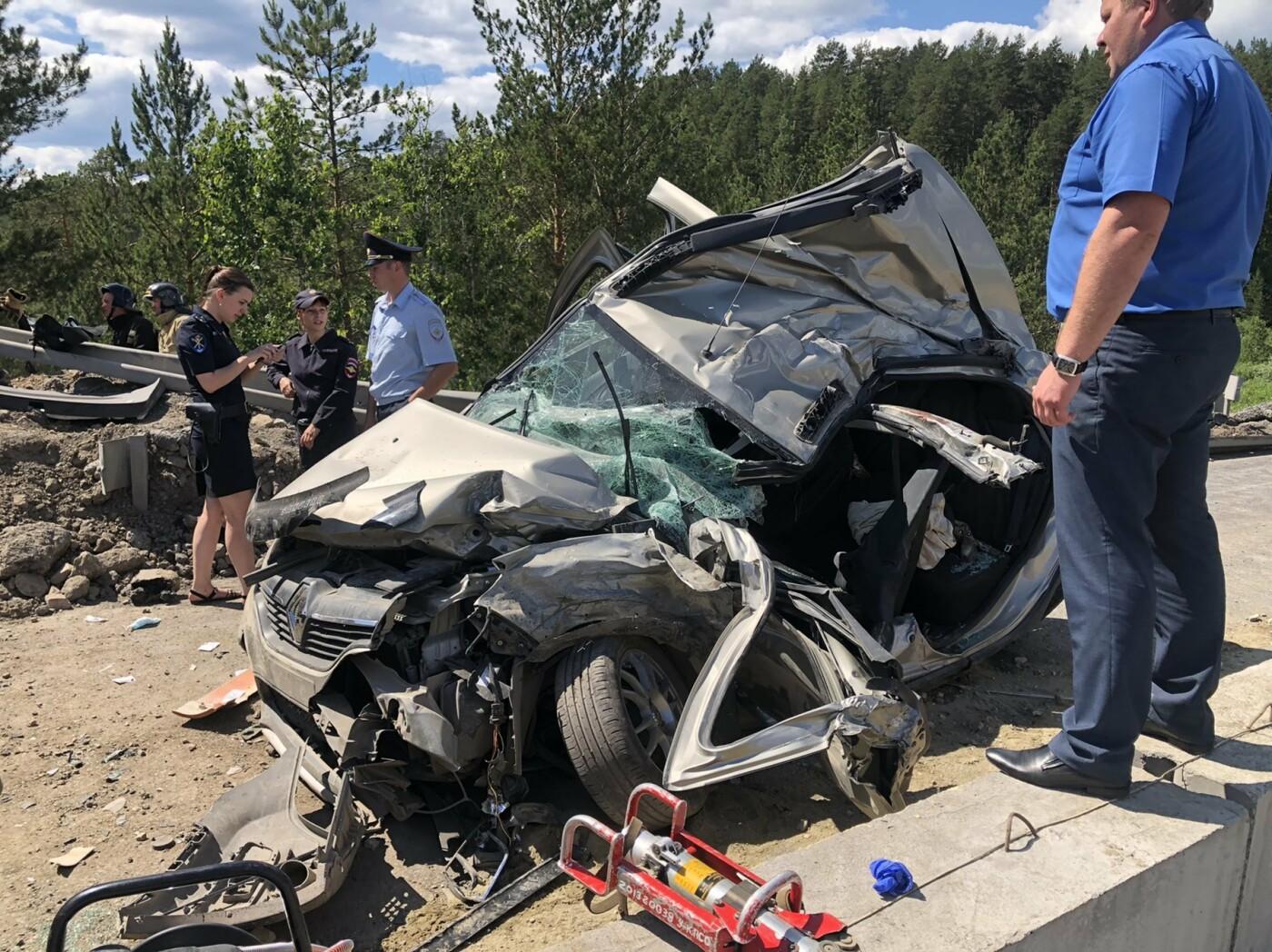 Грузовик смял 5 машин. На трассе в Челябинской области произошла страшная авария, фото-1